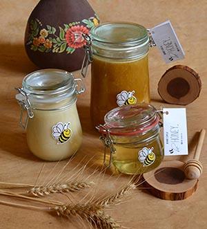 Органическая еда и продуктов эко, мед