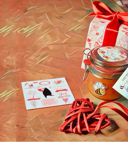 """Original gift for Valentine's day: """"Happiness & Sweet in jar"""""""